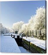 The Frozen Dallow Lane Lock Canvas Print