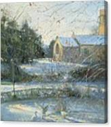 The Frozen Moat - Bedfield Canvas Print