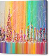 The Future City Abstract Painting  Canvas Print