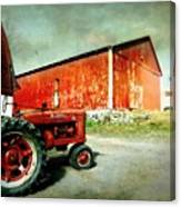 The Garage Canvas Print