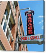 The Garage Pub Canvas Print