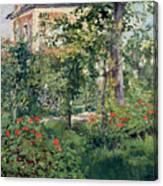 The Garden At Bellevue Canvas Print