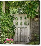 The Garden Door - V Canvas Print