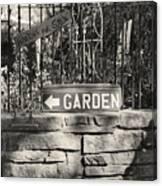 The Garden Gate Canvas Print