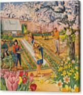 The Garden In Spring Canvas Print