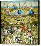 The Garden Of Earthly Delights 1490-1510 By Hieronymus Bosch Canvas Print