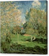 The Garden Of Hoschede Family Canvas Print