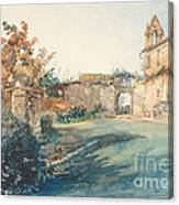 The Garden Of San Miniato Near Florence Canvas Print