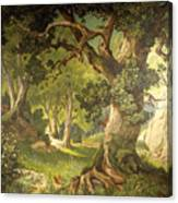 The Garden Of The Magician Klingsor, From The Parzival Cycle, Great Music Room Canvas Print