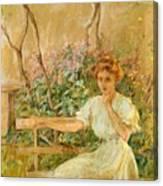 The Garden Seat 1911 Canvas Print