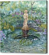 The Garden Triptych Middle Painting Canvas Print