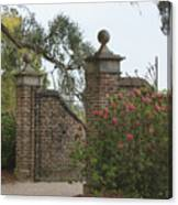 The Gate At Boone Hall Canvas Print