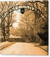 The Gate At Widener University Canvas Print