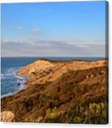 The Gay Head Cliffs In Autumn Canvas Print
