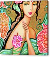 The Gaze Of Shalini Canvas Print