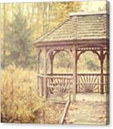 The Gazebo In The Woods Canvas Print