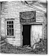 The General Store Bw Canvas Print