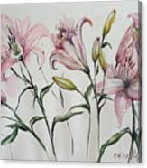 Gentle Flowers Canvas Print