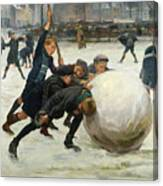 The Giant Snowball Canvas Print