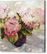 The Gift Hydranga Canvas Print