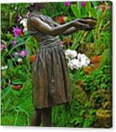 The Girl Among Orchids Canvas Print