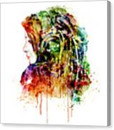 The Girl Is A Dj Canvas Print