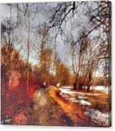 The Girl On The Path Canvas Print