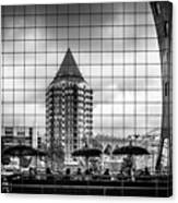 The Glass Windows Of The Market Hall In Rotterdam Canvas Print