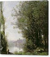 The Goatherd Beside The Water  Canvas Print
