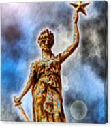 The Goddess Of Liberty - Texas State Capitol Canvas Print