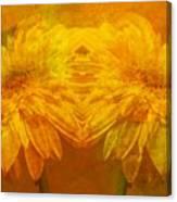 The Gold Mirror Canvas Print