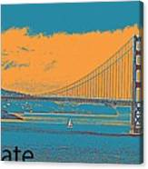 The Golden Gate Bridge In Sfo California Travel Poster 2 Canvas Print