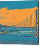 The Golden Gate Bridge In Sfo California Travel Poster Canvas Print