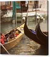 The Golden Gondola Canvas Print