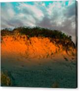 The Golden Hour Illuminating The Dunes Canvas Print