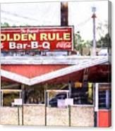The Golden Rule Bbq In Birmingham Canvas Print