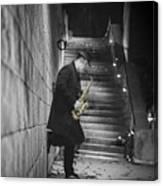 The Golden Saxophone Player Canvas Print