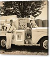 The Good Humor Man In Sepia Canvas Print
