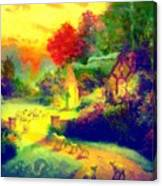 The Good Shepherd Painting In Hotty Totty  Canvas Print