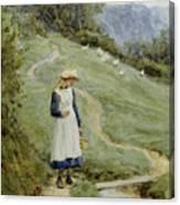 The Goose-girl  Canvas Print