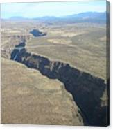The Gorge Bridge In Taos Canvas Print