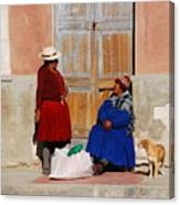 The Gossips Gossip Sitting In The Portal Were Counted Canvas Print