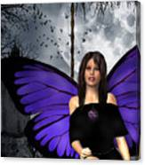 The Gothic Fae Lady Canvas Print