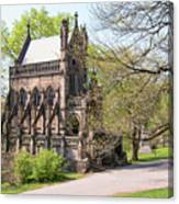 The Gothic Temple In Spring Grove Cemetery Canvas Print