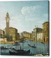 The Grand Canal At The Entrance Canvas Print