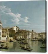 The Grand Canal In Venice From Palazzo Flangini To Campo San Marcuola Canvas Print