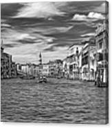 The Grand Canal - Paint Bw Canvas Print