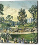 The Grand Drive, Central Park, New York, 1869 Canvas Print