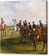 The Grand Leicestershire Steeplechase, March 12, 1829  The Start Canvas Print