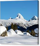 The  Grand Tetons From Alta Wyoming Canvas Print